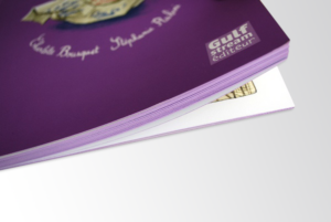 Dorure sur tranche - jaspage violet imprimer avec pulsio print
