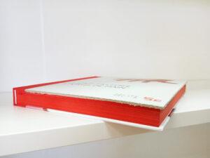 Dorure sur tranche - jaspage couleur unie rouge pulsio print