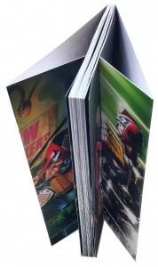 Comics à dos carré collé avec rabats
